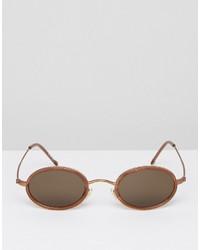 Мужские коричневые солнцезащитные очки от Reclaimed Vintage
