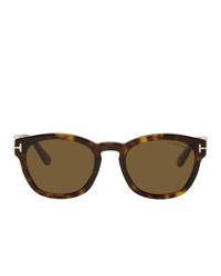 Мужские коричневые солнцезащитные очки от Tom Ford