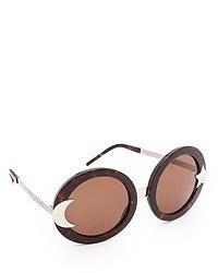 Женские коричневые солнцезащитные очки от Wildfox Couture
