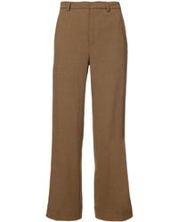 Женские коричневые шерстяные классические брюки от Tome
