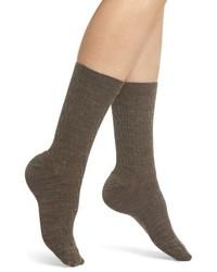 Коричневые шерстяные носки