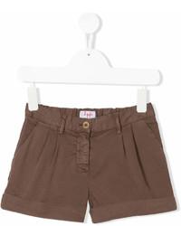 Детские коричневые шорты для девочке от Il Gufo