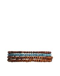 Мужской коричневый браслет из бисера от Classics 77