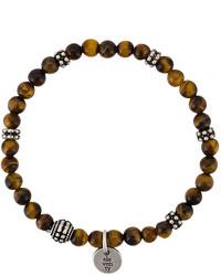Мужской коричневый браслет из бисера от Eleventy