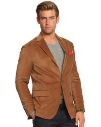 Коричневый вельветовый пиджак