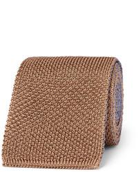 Мужской коричневый вязаный галстук от Boglioli