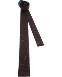 Мужской коричневый вязаный галстук от Drumohr