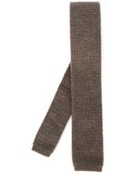 Мужской коричневый вязаный галстук от Eleventy