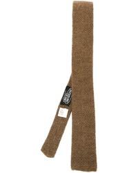 Мужской коричневый вязаный галстук от Missoni