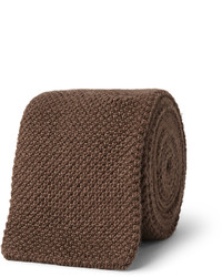 Мужской коричневый вязаный галстук от Richard James
