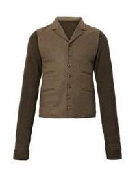 Коричневый вязаный пиджак