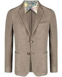 Мужской коричневый вязаный пиджак от Etro