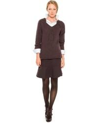 Женский коричневый вязаный свитер от Max Studio