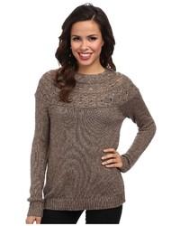 Женский коричневый вязаный свитер от Tommy Bahama