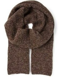 Коричневый вязаный шарф