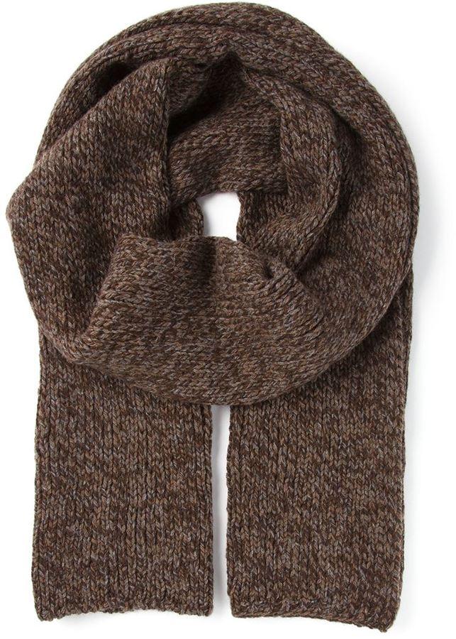 Мужской коричневый вязаный шарф от Dolce   Gabbana   Где купить и с ... b701297521c