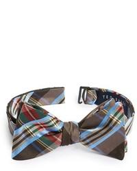 Коричневый галстук-бабочка в шотландскую клетку