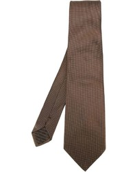 Мужской коричневый галстук от Armani Collezioni
