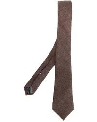 Мужской коричневый галстук от Eleventy