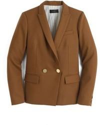 Коричневый двубортный пиджак