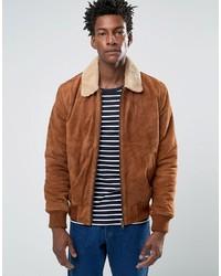 c991c46fb03 Купить мужскую коричневую замшевую куртку Bellfield - модные модели ...
