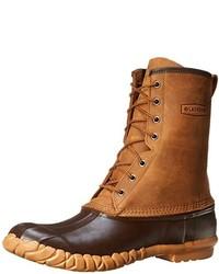 Коричневый зимние ботинки