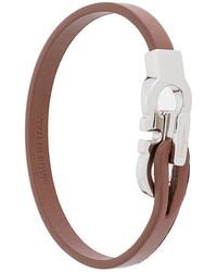 Мужской коричневый кожаный браслет от Salvatore Ferragamo