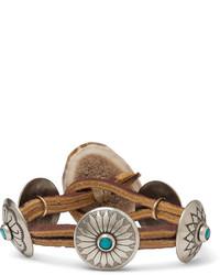 Мужской коричневый кожаный браслет от Yuketen