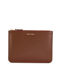 Мужской коричневый кожаный мужской клатч от Comme Des Garçons Wallet