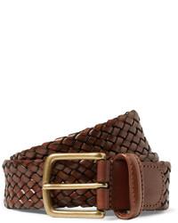 Мужской коричневый кожаный плетеный ремень от Andersons