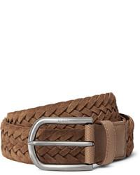 Мужской коричневый кожаный плетеный ремень от Tod's