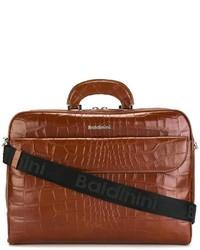 Коричневый кожаный портфель от Baldinini