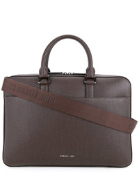 Коричневый кожаный портфель от Cerruti
