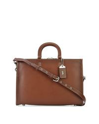 Коричневый кожаный портфель от Coach