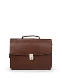 Коричневый кожаный портфель от Fabretti