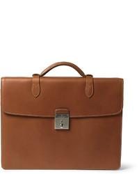 Коричневый кожаный портфель от Mulberry