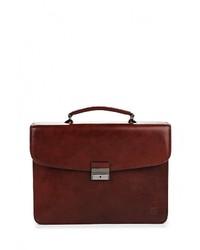 Коричневый кожаный портфель от Sergio Belotti
