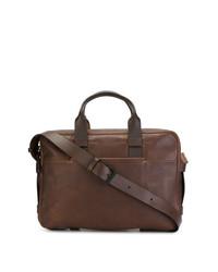 Коричневый кожаный портфель от Troubadour