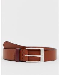 Мужской коричневый кожаный ремень от ASOS DESIGN