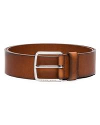 Мужской коричневый кожаный ремень от BOSS