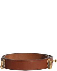 Женский коричневый кожаный ремень от Burberry
