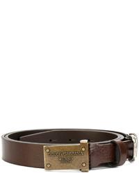Мужской коричневый кожаный ремень от Dolce & Gabbana