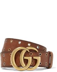 Женский коричневый кожаный ремень от Gucci