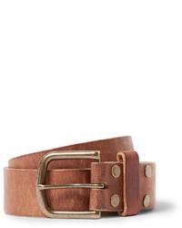 Мужской коричневый кожаный ремень от Jean Shop