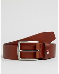 Мужской коричневый кожаный ремень от Tommy Hilfiger