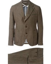 Мужской коричневый костюм