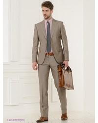 Мужской коричневый костюм от Absolutex