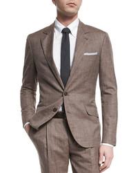 Мужской коричневый костюм от Brunello Cucinelli
