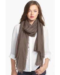 Коричневый легкий шарф