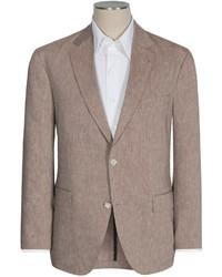 Коричневый льняной пиджак